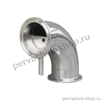 Отвод угол 90 градусов с узлом отбора кламп 2 дюйма