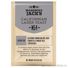 Дрожжи MANGROVE JACKS CALIFORNIAN LAGER M54, 10 г