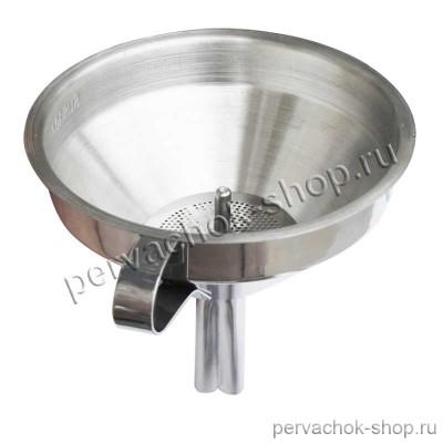 Воронка металлическая с фильтром d 15 см