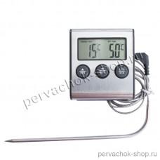 Термометр цифровой с выносным щупом таймером и звуковым сигналом