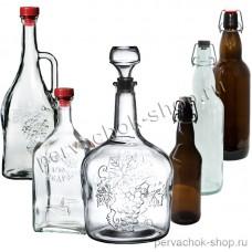 Пробки, бутылки, графины, укупорка, оформление напитков