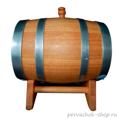 Бочка дубовая бочка 15 литров, средний внутренний обжиг, воск
