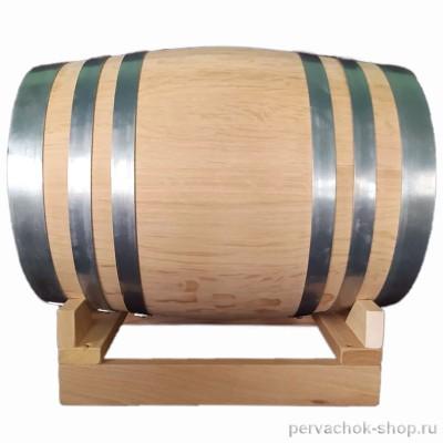 Бочка дубовая 30 литров, сильный внутренний обжиг, без вощения, без подставки
