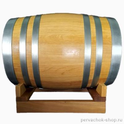 Бочка дубовая 30 литров, сильный внутренний обжиг, воск  (без подставки)