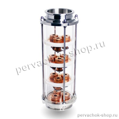 "Тарельчатая колпачковая колонна 4 дюйма (D120), 4 тарелки (медь M1), КЛАМП 4"" дюйма"