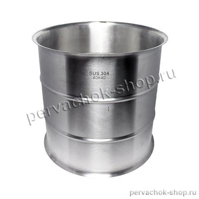 Увеличитель куба 50 литров 40x40 нержавеющая сталь AISI 304