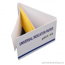 Бумага индикаторная 1-14 pH в буклете, 80 полосок