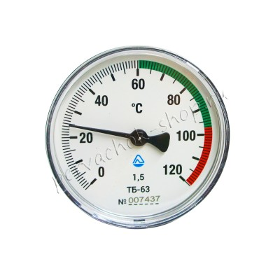 Термометр биметаллический 0-120 °C